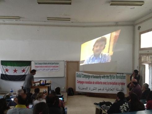 من فعاليات حملة التضامن مع الثورة السورية