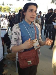 الفتاة التونسية (انتصار قلاع) التي اعتدى عليها الشبيحة
